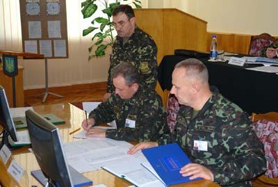 Офіцери корпусу провели навчання на випадок війни