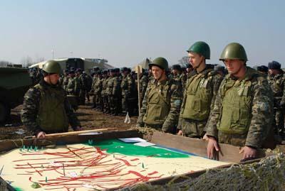 Офіцери 8 армійського корпусу взяли участь в умовній війні