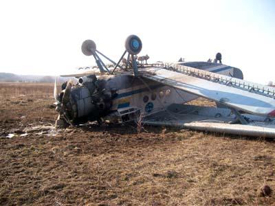 На Житомирщине упал самолет. Люди выжили