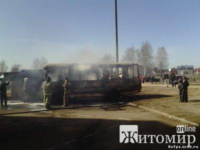 В Житомирской области сголел школьный автобус