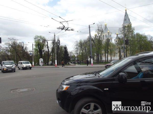 Через аварію на РЕСі в Житомирі не працюють світлофори. ФОТО