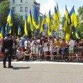 """Під вікнами Януковича зібралися прихильники """"мовного"""" закону. ВІДЕО"""