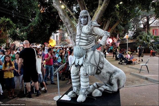 Фестиваль живих скульптур у Ізраїлі. ФОТО