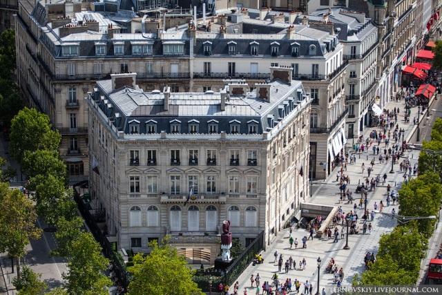 Париж з Тріумфальної арки. ФОТО