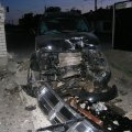 В Житомирі п'яний киянин наїхав на цегляний паркан