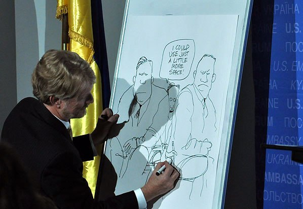 Известный американский карикатурист высмеял ситуацию со свободой слова в Украине