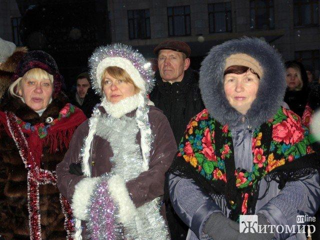 Житомирянам нагадали, що таке Різдво. ФОТО