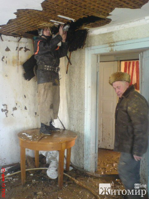 Спільними зусиллями рятувальників та селян ліквідовано загоряння у житловому будинку