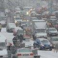 У Києві знову транспортний колапс: місто стоїть у десятибальному заторі
