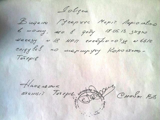 Через мітинг на Житомирщині зупинили електричку, а пасажирам видавали довідки