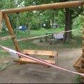 На дитмайданчику у Бердичеві загинула восьмирічна дівчинка. ВІДЕО