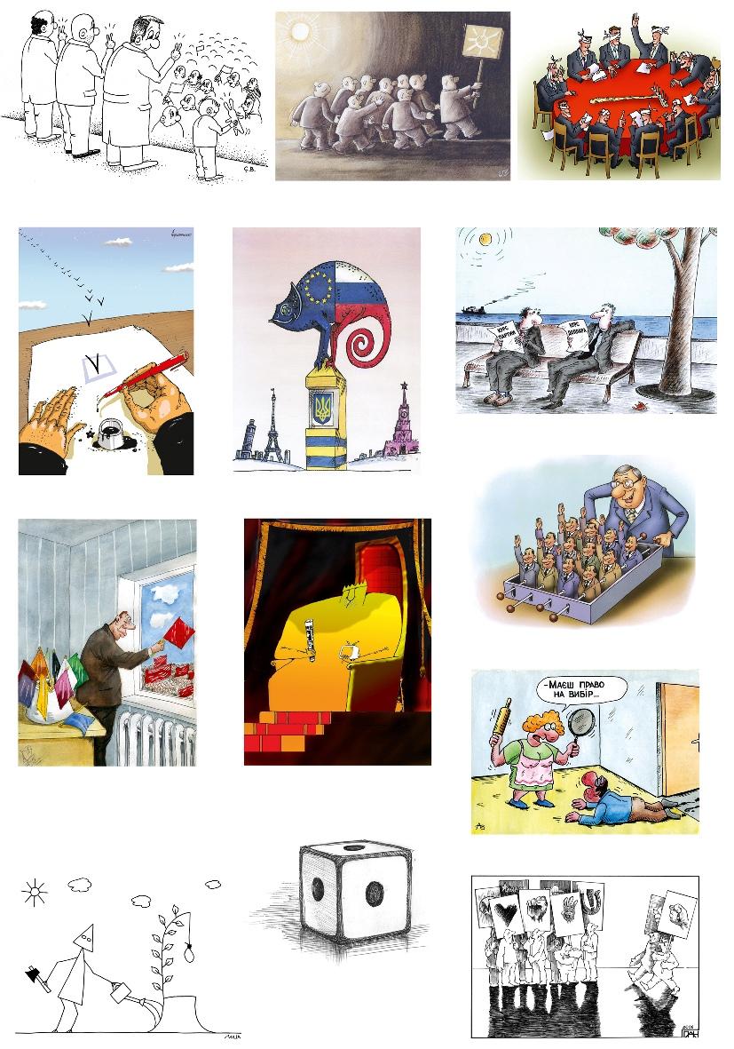 Житомирский карикатурист пошутил над «Правом на выбор»