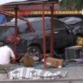 На Луганщині п'яний машиною протаранив кафе, є жертви. ВІДЕО
