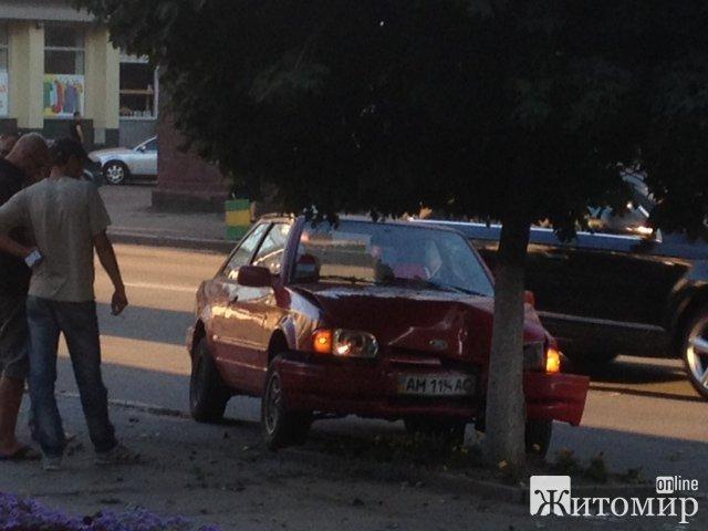 У Житомирі автівка врізалась в дерево. ФОТО