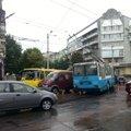 Дощ призвів до ДТП у центрі Житомира. ФОТО