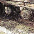 У Коростені горіла вантажівка