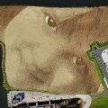 Художник створив на землі обличчя, розміром 45 тис. кв. метрів