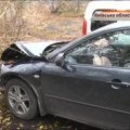 П'яний як чіп водій Mazda перекинув міліцейський Renault