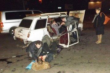 ДТП в Житомире. Водитель такси с пассажирами врезался в Жигули.ФОТО