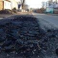 Новый асфальт на улице Чехова в Житомире не продержался и два дня