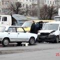 У Житомирі через вимкнений світлофор зіткнулися два автомобілі