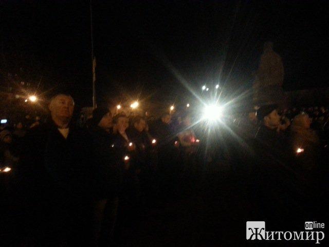 Житомиряни сьогодні молилися на мітингу-реквіємі. ФОТО