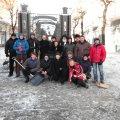 В Житомирі активісти місцевого майдану прибрали вулицю Михайлівську від снігу