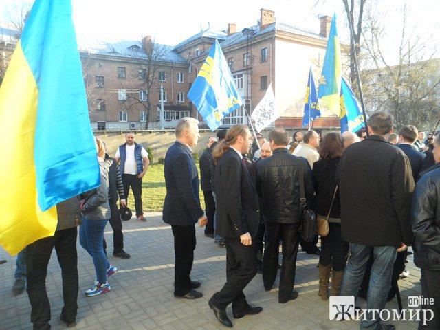 В Житомирі офіційно відкрили пам'ятник Омеляну Сенику і Миколі Сціборському. ФОТО. ВІДЕО