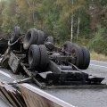 Пассажир военного КамАЗа, который перевернулся на трассе Киев-Чоп в Житомирской области, чудом уцелел