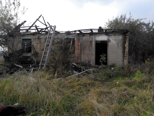 В Житомирській області під час пожежі загинув чоловік.ФОТО