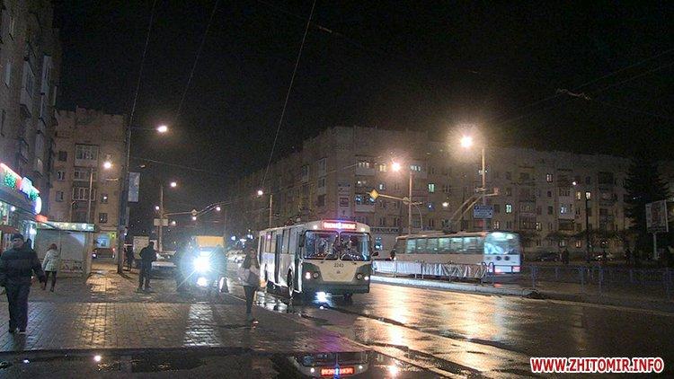 В Житомире на двух перекрестках по Киевской не работают светофоры