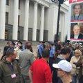 Возле Рады предприниматели устроили пикет из-за кассовых аппаратов. ФОТО