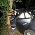 У Володарсько-Волинському районі 34-річний водій на швидкості влетів у дерево