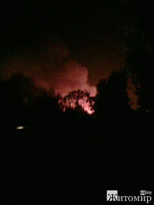 У Коростишеві вдалося ліквідувати масштабну пожежу