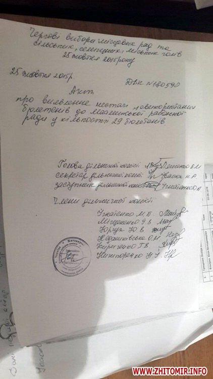 У Житомирській області комісія не дорахувалася 29 невикористаних бюлетенів