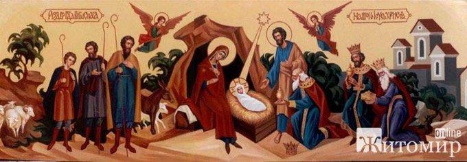 Богослужіння у День Різдва Христового у Свято-Михайлівському соборі м.Житомира