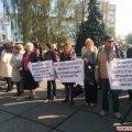 У Житомирі під стінами облдержадміністрації мітингують працівники профтехосвіти