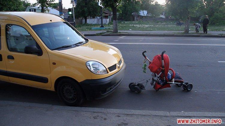 В Житомире на улице Победы автомобиль сбил женщину с маленьким ребенком