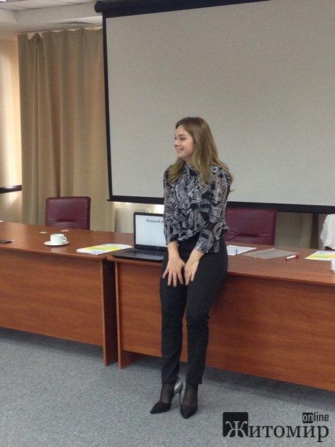 В Житомирі відбувся тренінг для молоді «Лідерство і публічні виступи»