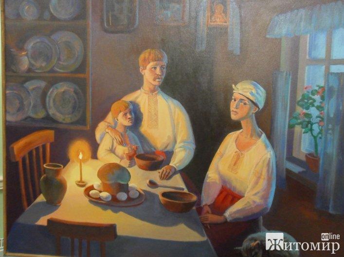 У Житомирській філармонії художньою окрасою фестивалю «Грудневі вечори» стала однойменна виставка картин студентів