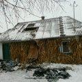 У Попільнянському районі горів дерев'яний житловий будинок