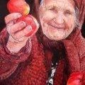 Вінницький мент оштрафував бабусю на 12 тисяч за торгівлю яблуками. ВІДЕО