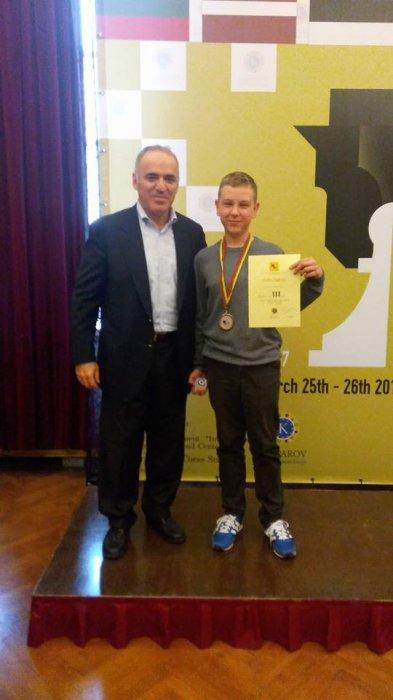 Шахіст із Коростишева Кирило Волотовський здобув бронзу на міжнародному турнірі серед дітей та молоді