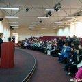 Перша леді виступає в Житомирському інституті медсестринства, говорить про інклюзивну освіту