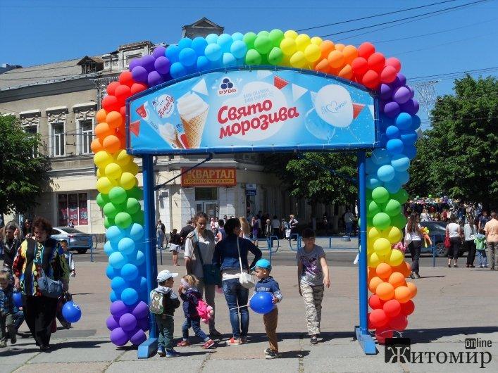 Житомир зустрів Свято Морозива від ТМ «Рудь» дитячим сміхом та веселими розвагами