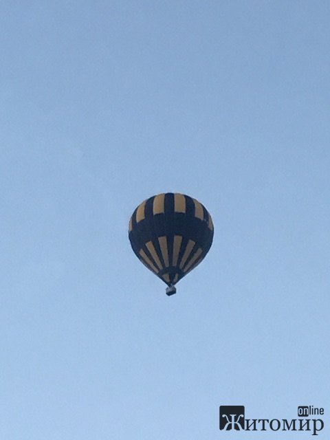 Житомиром літала повітряна куля. ФОТО