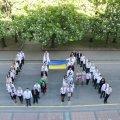 У Житомирі Нацполіція відзначила день Державного Прапора флешмобом.ФОТО