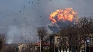 Мощнейший взрыв на складах боеприпасов в Калиновке. ВИДЕО