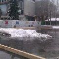 У Житомирі на Михайлівській монтують зимову ковзанку.ФОТО