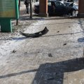 """У Бердичеві іномарка на євробляхах влетіла в арку """"Алеї Слави"""": водія довелося вирізати"""